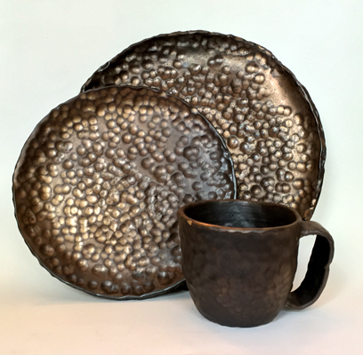 Gold Hammered Mug