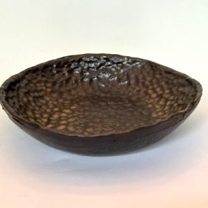 Gold Hammered Low Bowl